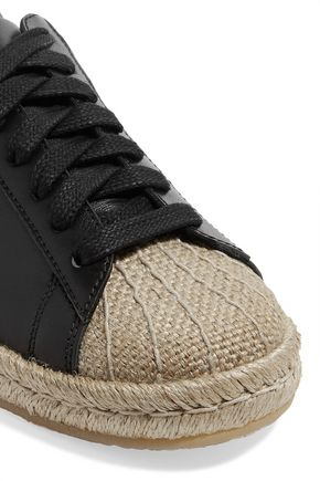 ALEXANDER WANG Rian leather espadrille sneakers