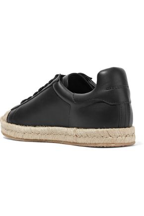 ALEXANDER WANG Rian canvas-paneled leather sneakers