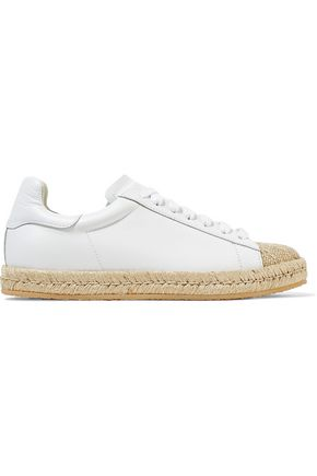 ALEXANDER WANG Rian paneled canvas and leather sneakers