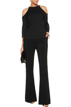 HALSTON HERITAGE Cutout stretch-silk top