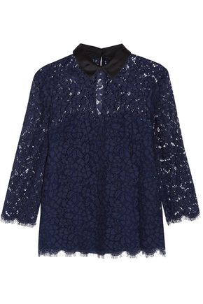 RACHEL ZOE Oliver corded lace top