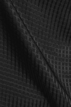 JOSEPH Checked jacquard silk top
