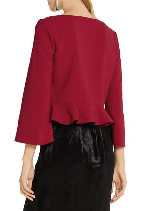 CUSHNIE ET OCHS Stress Bliss ruffled stretch-cady top