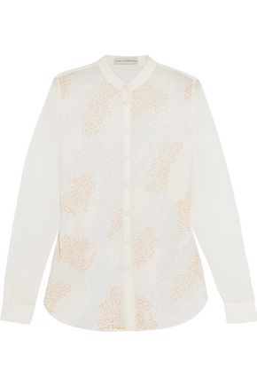 MARY KATRANTZOU Mika beaded silk-chiffon blouse