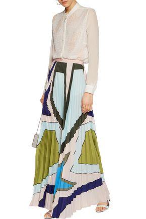 MARY KATRANTZOU Mika beaded silk-chiffon blouse