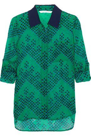 DIANE VON FURSTENBERG Lorelei printed silk-georgette blouse