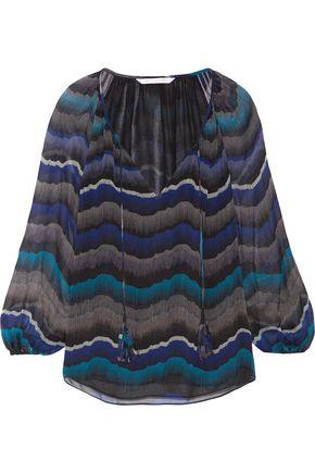 DIANE VON FURSTENBERG Saylor printed silk-chiffon blouse