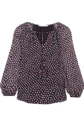 DIANE VON FURSTENBERG Saylor printed silk-georgette blouse