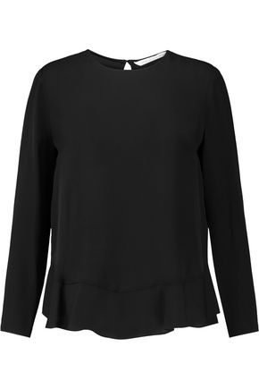 DIANE VON FURSTENBERG Galia ruffled silk crepe de chine top