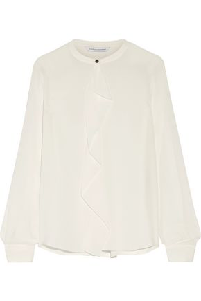 DIANE VON FURSTENBERG Adelaide ruffled silk crepe de chine blouse