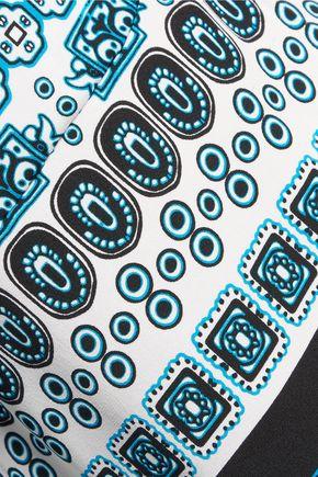 DIANE VON FURSTENBERG Arden printed stretch-silk blouse