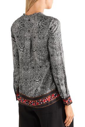 DIANE VON FURSTENBERG Elenora printed silk-twill blouse