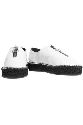 ALEXANDER WANG Devon leather espadrilles
