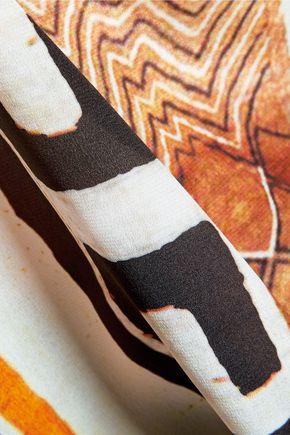 CAMILLA Printed silk-voile top