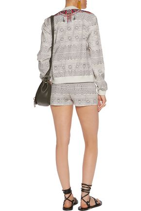 CAMILLA Printed faille shorts
