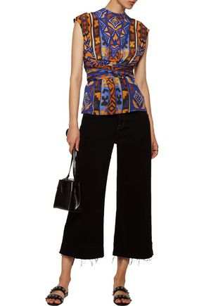CAMILLA Printed silk-chiffon top