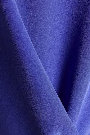 CAMILLA Asymmetric silk crepe de chine top