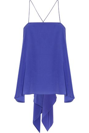 CAMILLA Asymmetric silk crepe de chine top