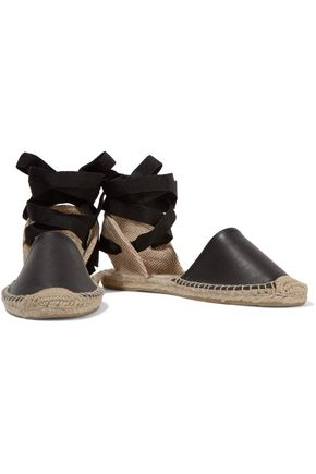 SOLUDOS Lace-up leather espadrilles