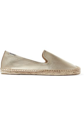SOLUDOS Metallic leather espadrilles