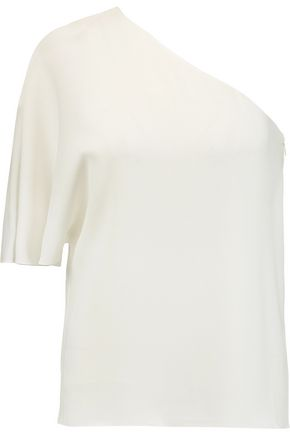 TIBI Savanna one-shoulder crepe top