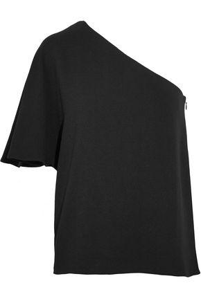 TIBI One-shoulder stretch-crepe top