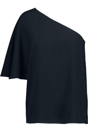 TIBI Savanna one-shoulder crepe top