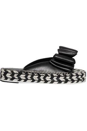SIGERSON MORRISON Verane bow-embellished leather espadrilles