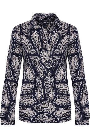 A.P.C. Printed cotton-poplin shirt
