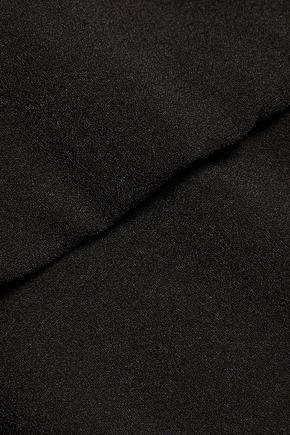 HALSTON HERITAGE Cutout crepe de chine top