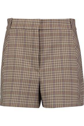SANDRO Checked twill shorts