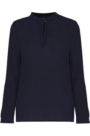 A.P.C. Plissé-silk blouse
