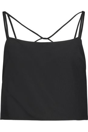 MILLY Emery cropped stretch-cady camisole