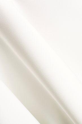 MILLY Silk-trimmed cutout cady tank
