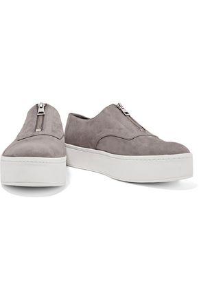 VINCE. Warner nubuck platform sneakers