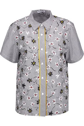 OPENING CEREMONY Lily printed cotton-poplin shirt