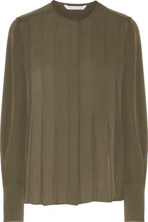 DIANE VON FURSTENBERG Vicky pintucked silk blouse
