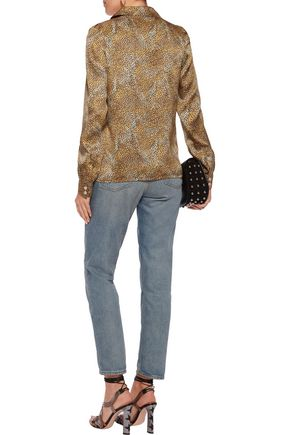 SONIA RYKIEL Leopard-print silk shirt