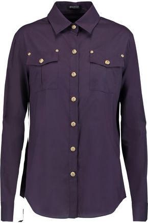 BALMAIN Cotton-poplin shirt
