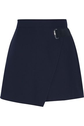 CARVEN Wrap-effect crepe shorts