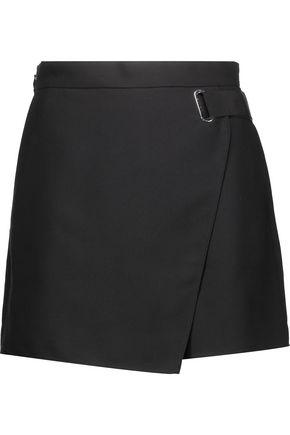 CARVEN Wrap-effect crepe shorts