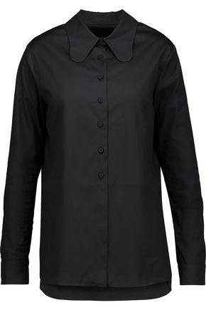 CARVEN Asymmetric cotton shirt