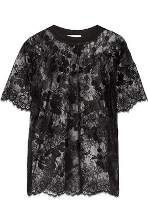 CARVEN Embroidered lace top