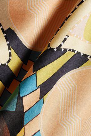GIVENCHY Printed silk-blend satin top