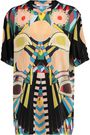 GIVENCHY Printed silk-blend satin top