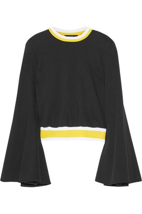 ELLERY Immortal stretch knit-trimmed cotton sweater