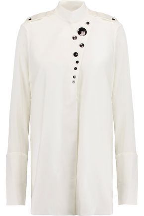 ELLERY Visual Wonder embellished stretch-silk top