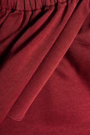 •ELLERY• Suko cold-shoulder satin-crepe top