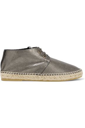 ROBERT CLERGERIE Metallic leather espadrilles