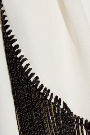 10 CROSBY DEREK LAM Fringe-trimmed silk top